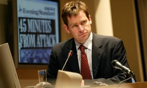 David Michaels as Alastair Campbell in Justifying War at the Tricycle in 2003.