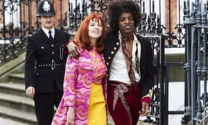 André Benjamin and Hayley Atwell in Jimi: All Is By My Side