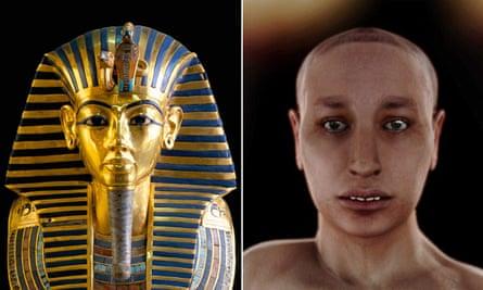 Gold mask of Tutankhamun and 'virtual autopsy'