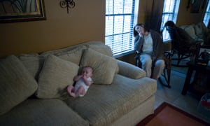 baby and mother suffering from postpartum depression