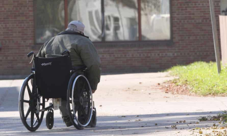 A disabled indigenous man in Winnipeg
