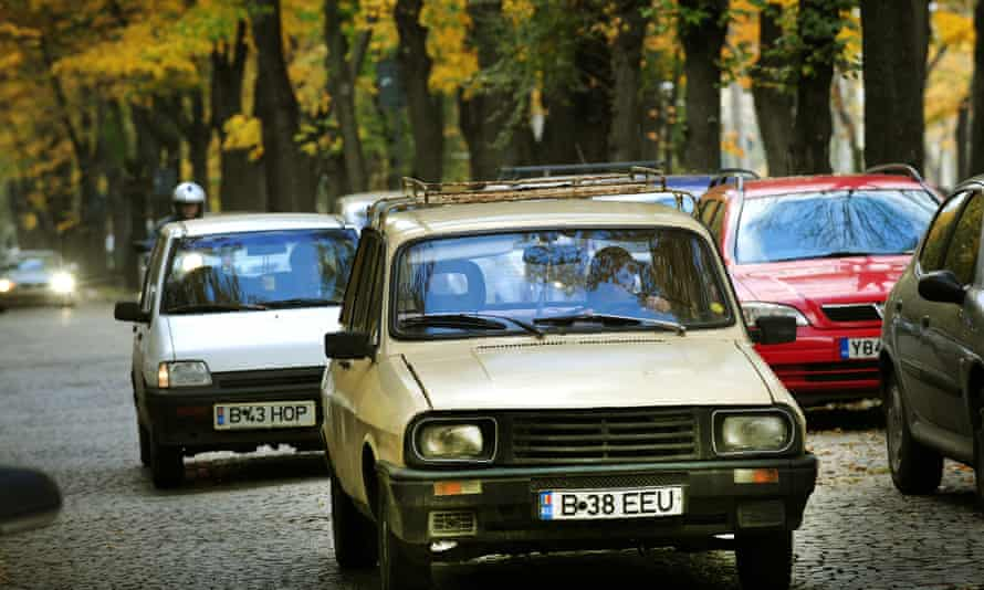 The Dacia 1300 cruises through Bucharest in 2009. Decades after its launch, Dacia remains the most famous car brand in Romania.