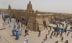 The end of Friday prayers at the Djinguereber mosque in Timbuktu.