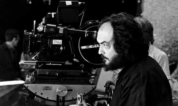 Stanley Kubrick on the set of The Shining, 1980