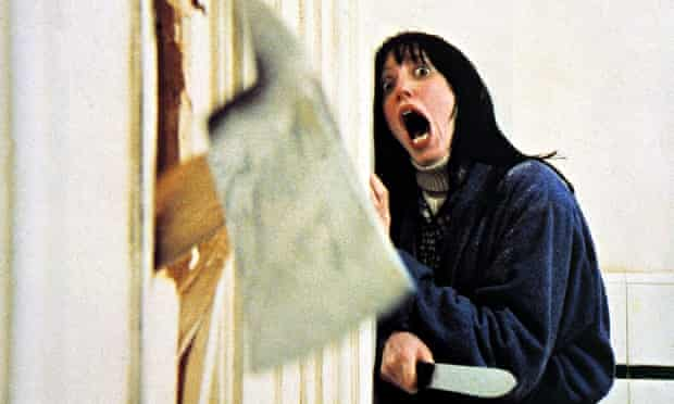 Axe scene from The Shining with Shelley Duvall.