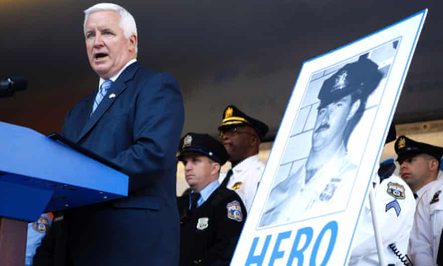 Pennsylvania Governor Tom Corbett speaks before signing the Re-victimization Relief Act on Tuesday in Philadelphia.