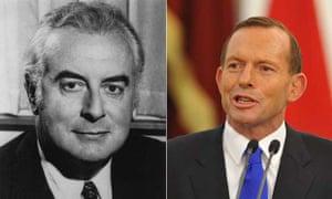 Gough Whitlam and Tony Abbott