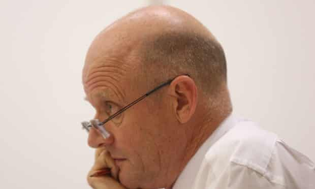 Senator David Leyonhjelm at the senate Education and Employment committee hearing this afternoon in Parliament House, Monday 22nd October 2014
