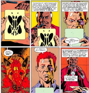 The Watchmen, co-created by Dave Gibbons himself and Alan Moore, was a seminal comic moment