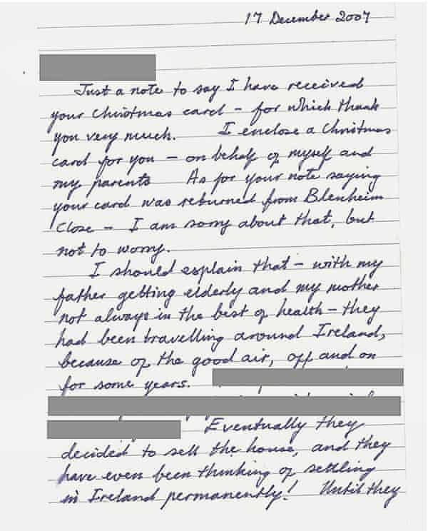 A letter written by Susan Edwards to relatives with 'news' of the parents she'd killed
