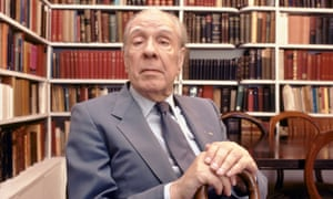 Argentine writer Jorge Luis Borges at home in Buenos Aires, Argentina, 1983.