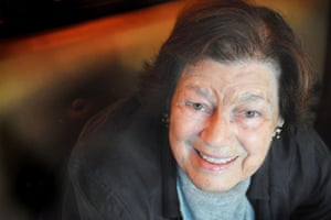 Author Mavis Gallant, 87, at Le Dome Restaurant, Paris, France. Commissioned for Review