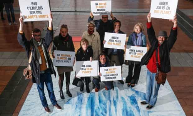 Trade union leaders in Brussels call for strong EU climate and energy targets