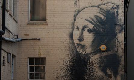New Banksy artwork 'Girl with the Pierced Eardrum' in Bristol