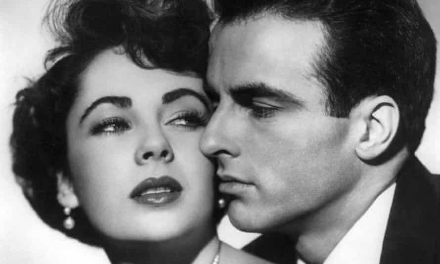 Elizabeth Taylor and Montgomery Clift in Place in the Sun, which was shot after his car accident.
