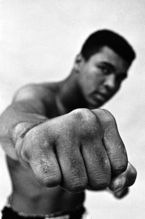 A much celebrated portrait showing Ali's fist.