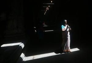 Colombo, Sri Lanka A Tamil devotee prays during a religious ceremony to celebrate Diwali, the annual festival of lights, at Ponnambalavaneshwaram Hindu temple