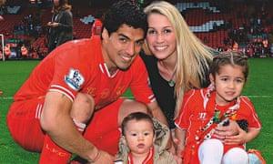 Suarez with wife Sofi