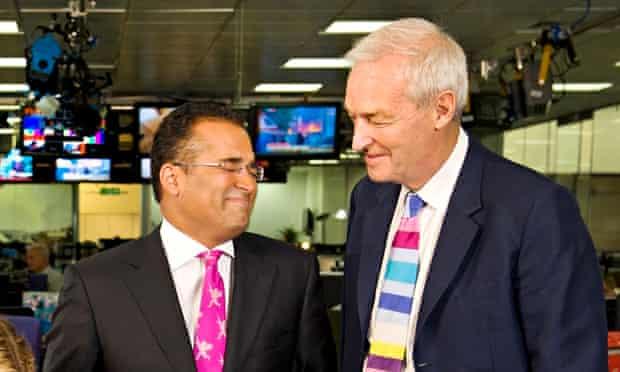 John Snow, right, with his colleague Krishnan Guru-Murthy.