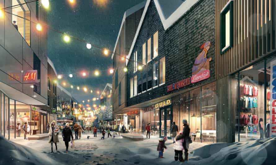 A proposed shopping street
