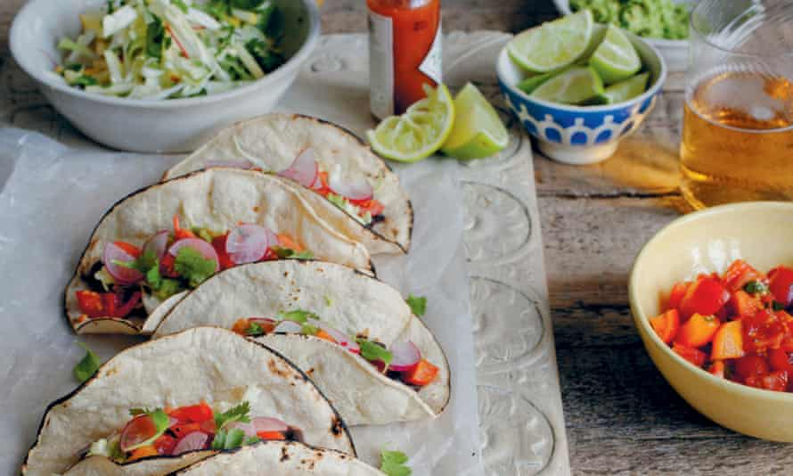 Anna Jones's lime and chipotle black bean tacos