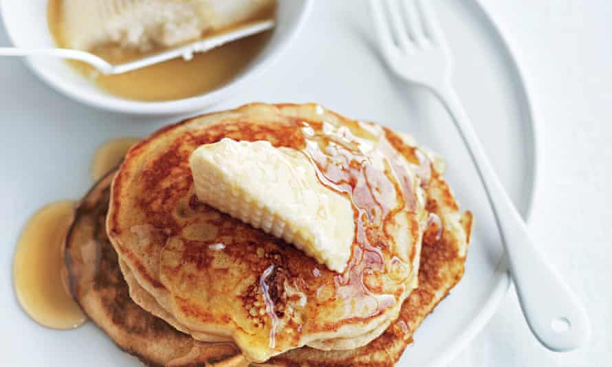 Donna Hay's whole wheat honey and ricotta pancakes