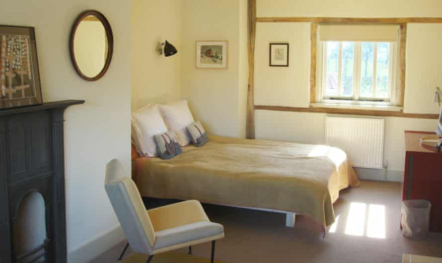 The bedrooms have very comfy beds, plus some intriguing art