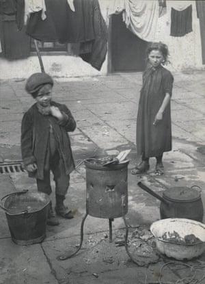 Children on washing day.