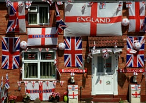 A house in Bristol during the 2010 World Cup in South Africa.
