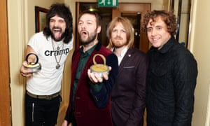 Kasabian, winners of the best act award at the Q Awards.