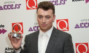 Sam Smith, winner of the best new act at the Q Awards.