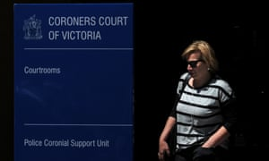 Rosie Batty leaves the Coroners Court of Victoria in Melbourne.