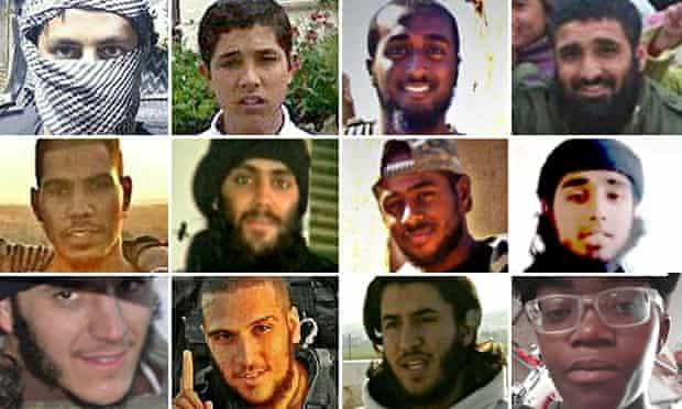 Composite of dead British Jihadis