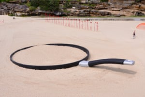 Andrew Hankin's We're Fryin' Out There, Sculptures by the Sea 2015