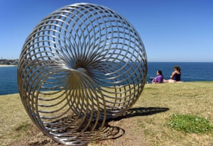 George Andric's Sisyphus, Sculpture by the Sea 2015