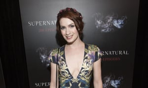 """Felicia Day attends the celebration for the 200th episode of """"Supernatural"""", in which she plays hacker Charlie Bradbury."""
