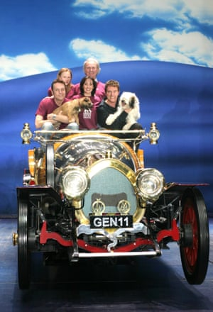 """Brian Conley, Carrie Sutton, Tony Adams, Jo Gibb and Alvin Stardus """"Chitty Chitty Bang Bang"""" Cast - Tour For Life -  2005"""