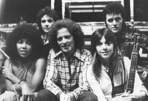Alvin Stardust on Supersonic in 1975, with Linda Lewis, David Essex, Gilbert O'Sullivan, and Suzi Quatro
