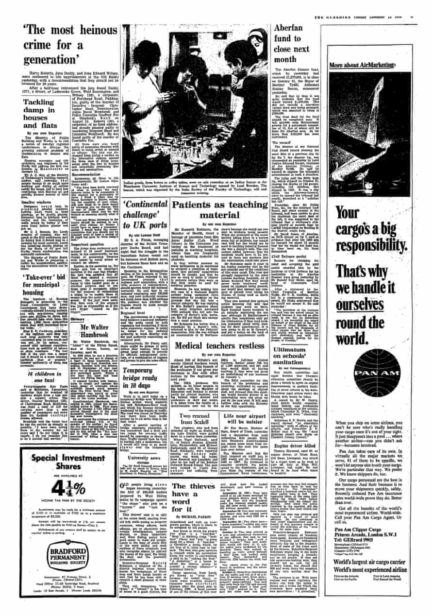 The 1966 Guardian report of Harry Roberts' sentencing at the Old Bailey