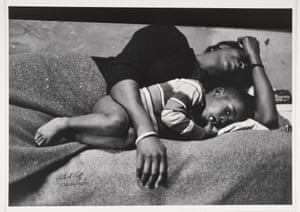 Bessie Fontenelle in Bed with her Son Richard, Harlem, New York, 1968.