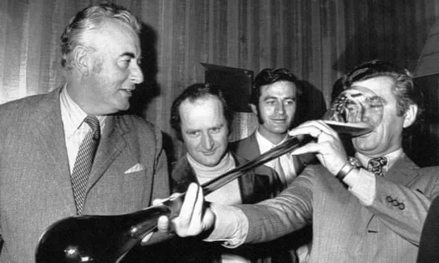 Gough Whitlam and Bob Hawke in 1972