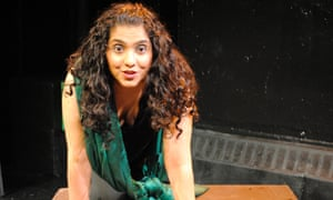 Actress Aizzah Fatima in her one-woman show, Dirty Paki Lingerie