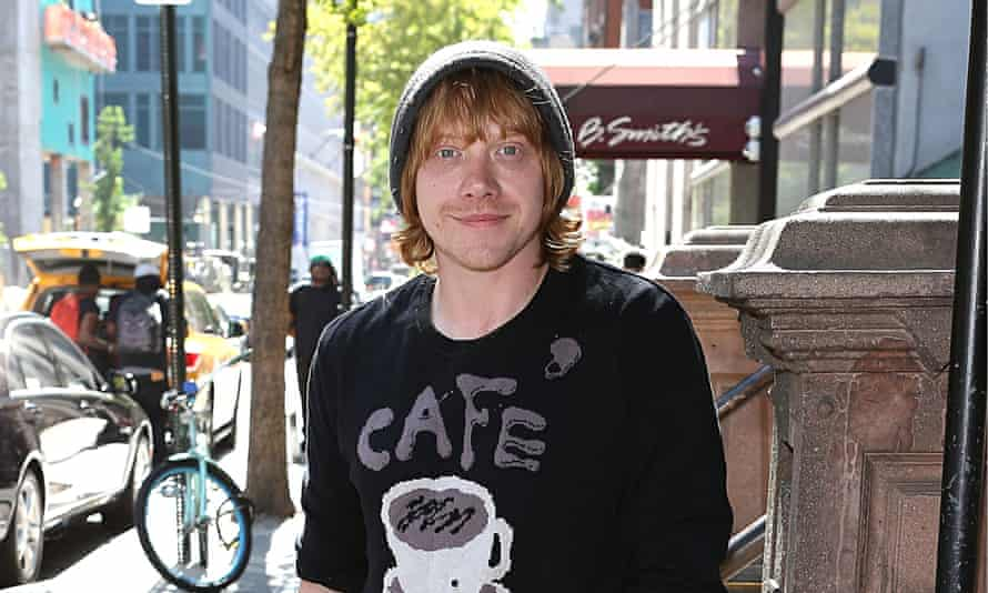 Rupert Grint in New York where he is appearing in It's Only a Play.