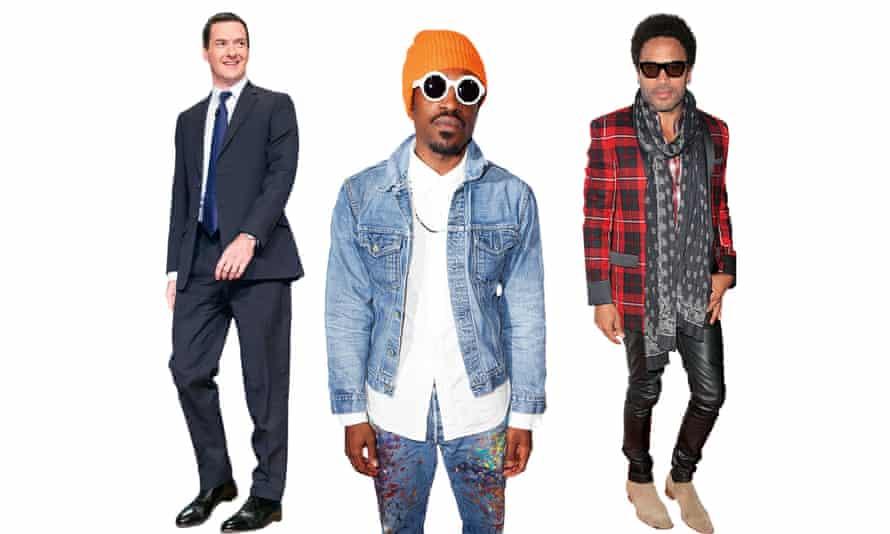 George Osborne, André 3000 and Lenny Kravitz