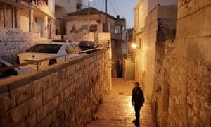 A Palestinian boy in East Jerusalem