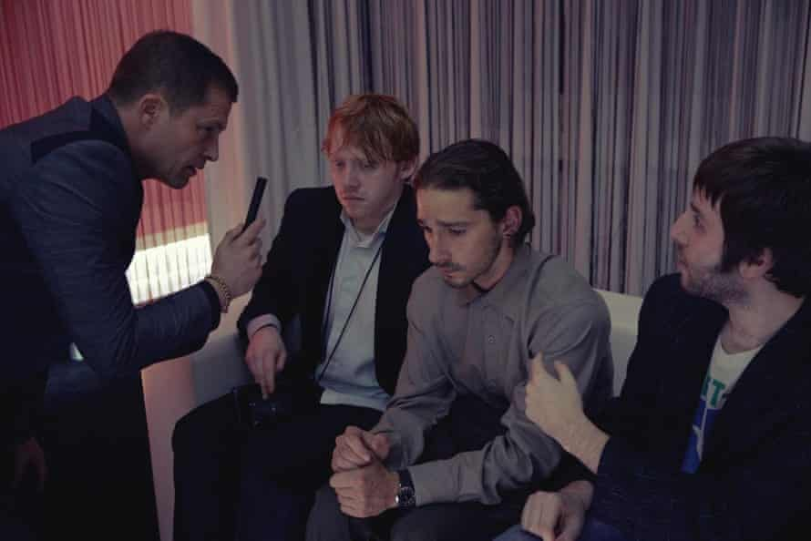 Rupert Grint and Shia LaBeouf, centre right, in The Necessary Death of Charlie Countryman.