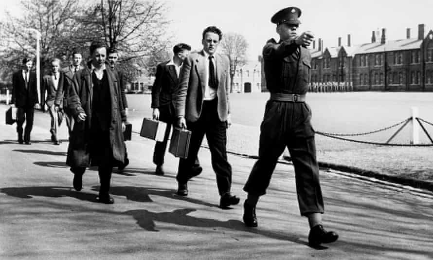 National service recruits in 1953