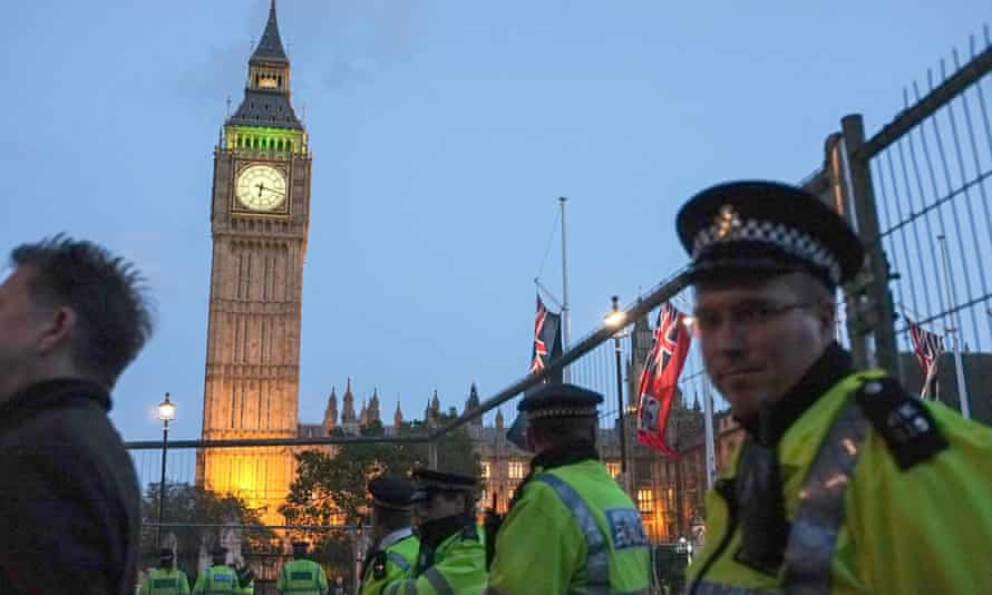 Police moved off Occupy protesters from Parliament Square.