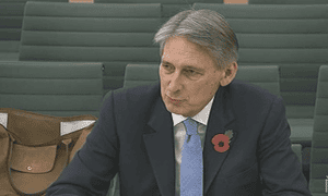 Philip Hammond giving evidence to the intelligence and security committee