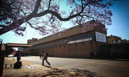 Kgosi Mampuru prison, Pretoria, where Oscar Pistorius is due to serve his sentence, viewed from a street